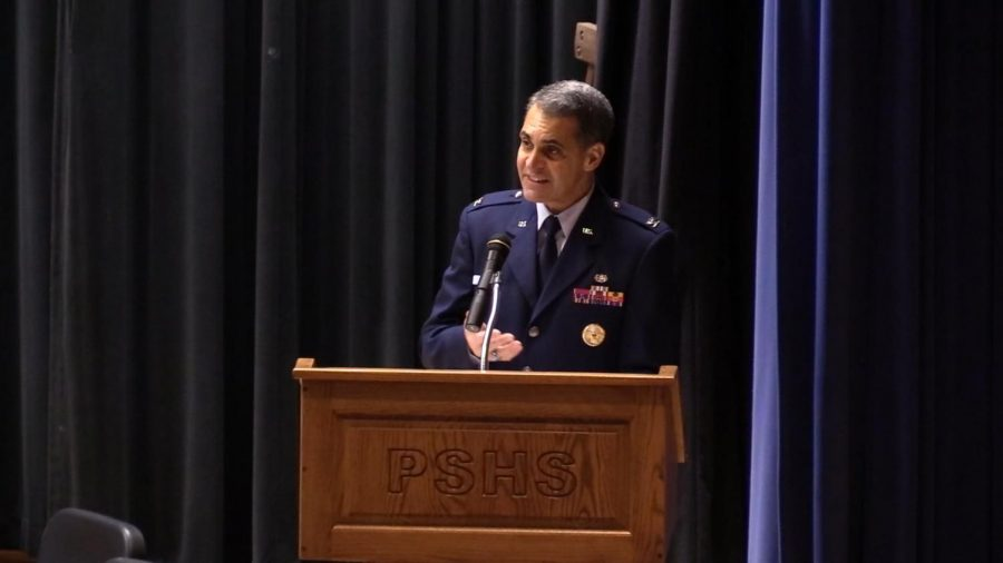 1972 PSHS Graduate Colonel Norbert Diaz Leads Veteran's Day Assembly