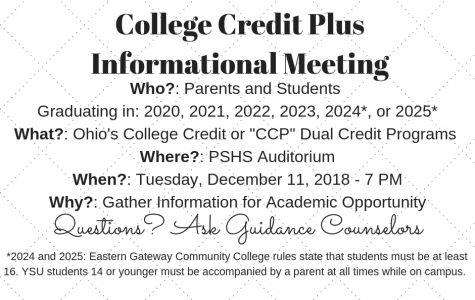 College Credit Plus Dual Enrollment Meeting