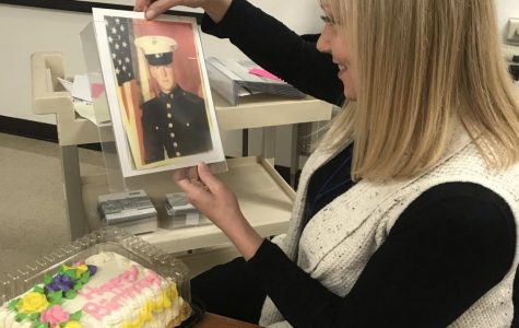 Student created memorial wall to honor Veteran's Day