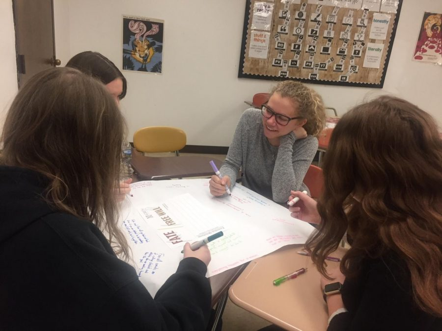 Honors English 10 makes real world connections with Shakespeare's Macbeth
