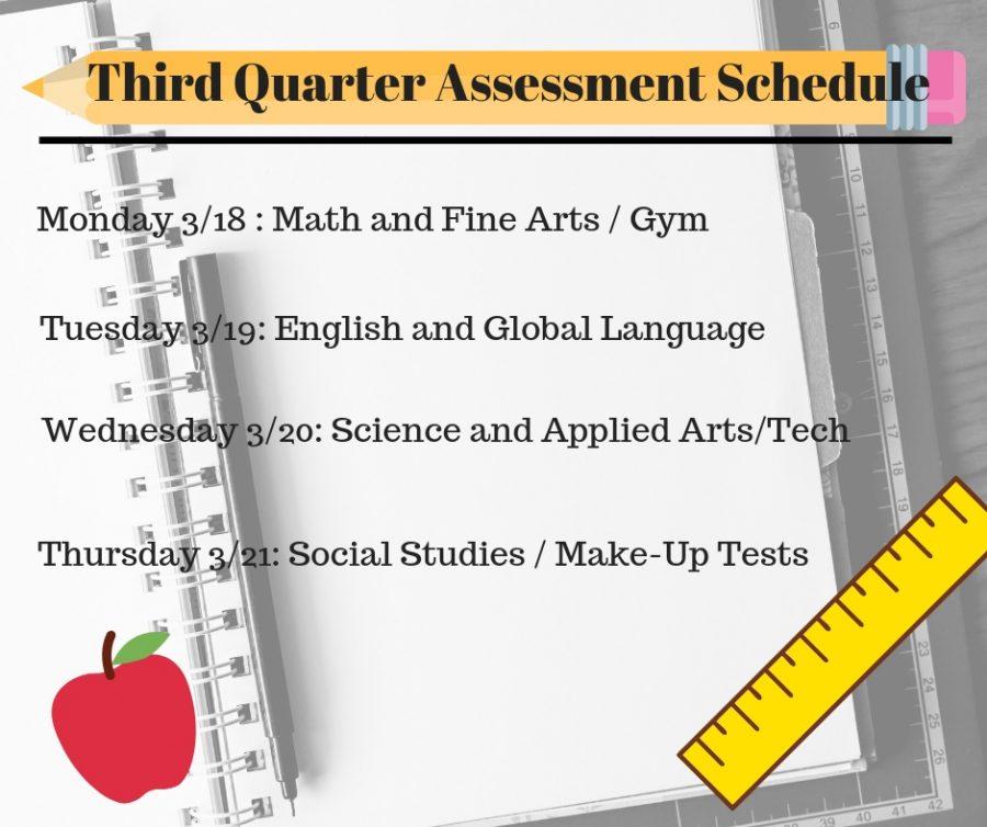 Third Quarter Assessment Schedule