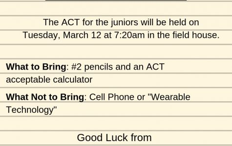 ACT Update for Juniors